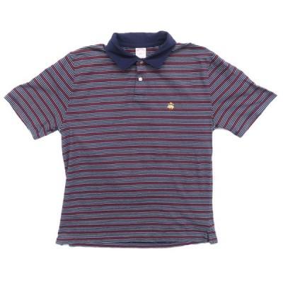 ブルックスブラザーズ ワンポイントロゴ ボーダーポロシャツ サイズ表記:L