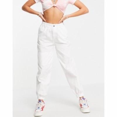 トップショップ Topshop レディース ジョガーパンツ ボトムス・パンツ utility cuffed trouser in white ホワイト