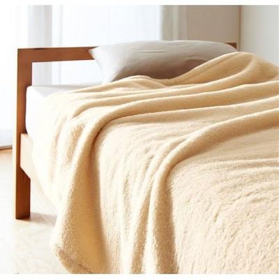 毛布(ふわふわマイクロファイバー)/アイボリホワイト/ハーフ(140×100cm)