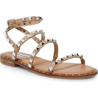 スティーブ マデン Steve Madden レディース サンダル・ミュール フラット シューズ・靴 Travel Rock Stud Flat Sandals Light Tan