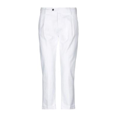 MICHAEL COAL パンツ ホワイト 35 コットン 74% / 麻 25% / ポリウレタン 1% パンツ