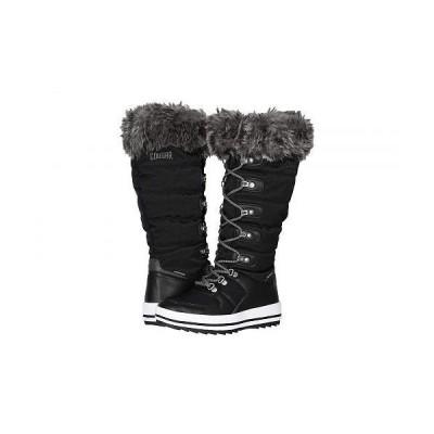 Cougar クーガー レディース 女性用 シューズ 靴 ブーツ スノーブーツ Vesta Waterproof - Black Nylon
