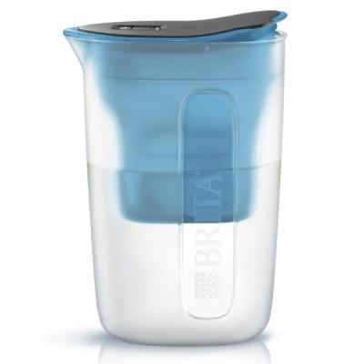 BRITA Japan ■ブリタ ポット型浄水器 ファンブルー 浄水部容量:1.0L マクストラプラスカートリッジ1個付き