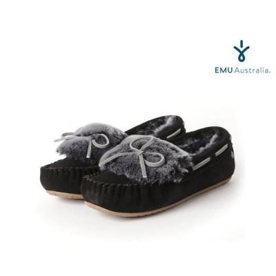エミュー emu australia レディース アミティ カフ フロスト モカシン BLACK ブラック