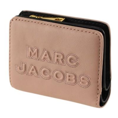 マークジェイコブス MARC JACOBS 折りたたみ財布レディース 二つ折り財布 ミニ財布 m0015752 253 ピンクベージュ系 財布・小物