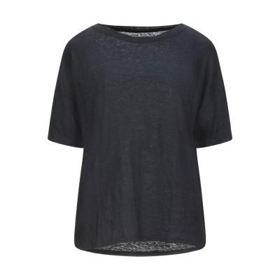 マジェスティック MAJESTIC FILATURES T シャツ ダークブルー 1 リネン 94% / ポリウレタン 6% T シャツ