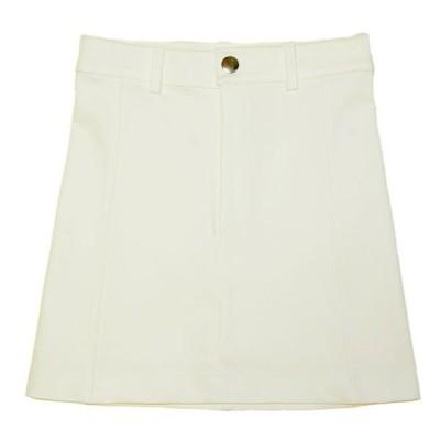 White Stretch Denim Skirt A1-69