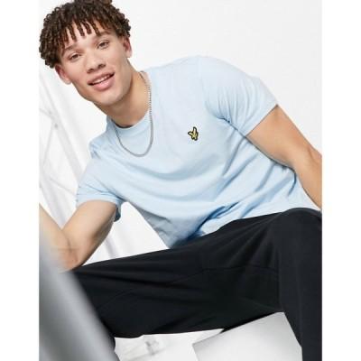 ライル アンド スコット Lyle & Scott メンズ Tシャツ トップス logo t-shirt in light blue ブルー