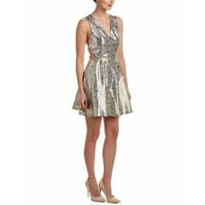 Alice + Olivia アリス+オリビア ファッション ドレス Alice + Olivia Varita Silk-Blend Cocktail Dress 6 Beige