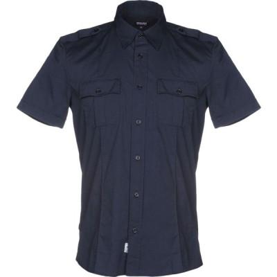 ブラウアー BLAUER メンズ シャツ トップス Solid Color Shirt Dark blue