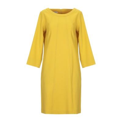 ROSSO35 ミニワンピース&ドレス イエロー 42 バージンウール / ポリウレタン® ミニワンピース&ドレス
