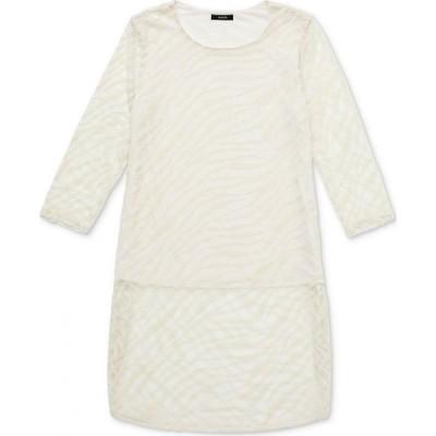 アルファニ Alfani レディース チュニック トップス Zebra-Print Burnout Layered Tunic Pure Ivory