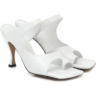 ボッテガ ヴェネタ Bottega Veneta レディース サンダル・ミュール シューズ・靴 Leather sandals Optic White