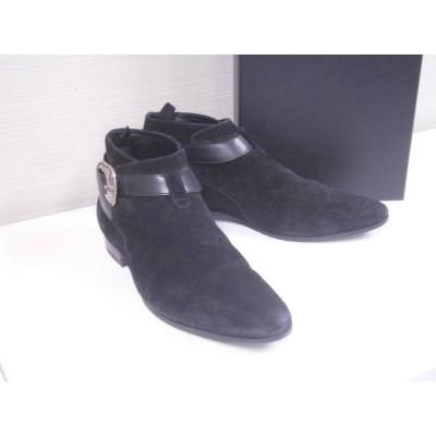 送料無料!格安!サンローランパリ SAINT LAURENT PARIS メンズ スエード アンクルジョッパーブーツ 革靴 417793 靴 ブラック 黒 サイズ41