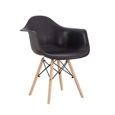 HTL 椅子レトロキッチンチェア、Ppのホームシンプルなパソコンデスクチェアメイドとアームレストと背