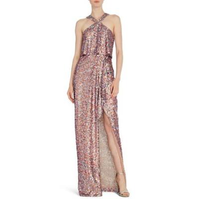 MLモニックルイラー ワンピース トップス レディース Sequin Halter Gown Lilac Multi