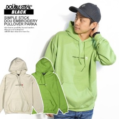 50%OFF SALE セール DOUBLE STEAL ダブルスティール SIMPLE STICK DOU EMBROIDERY PULLOVER PARKA atftps