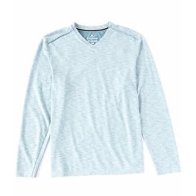 トッミーバハマ メンズ シャツ トップス Fray Day Harbor Long-Sleeve V-Neck Tee Mambo Blue