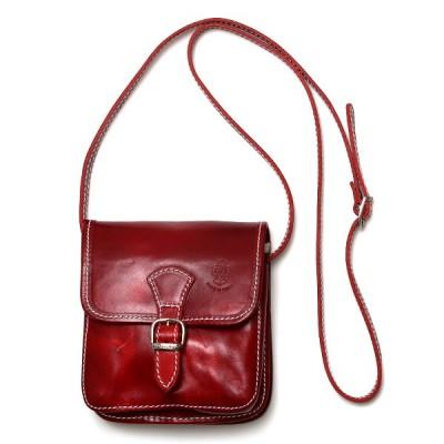 ミニ ショルダーバッグ レザー レディース レッド ワイン 赤色 イタリア ブランド サコッシュ メンズ 本革