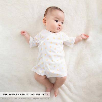 ミキハウスベビー ベビー ピュアベールフライス短肌着【60cm 白】 女の子
