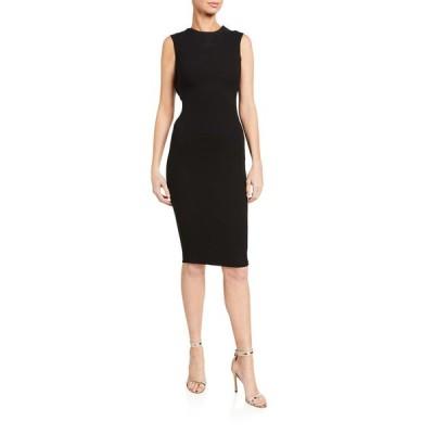 ヴィクトリア ベッカム レディース ワンピース トップス Jacquard Sleeveless Twist-Back Dress