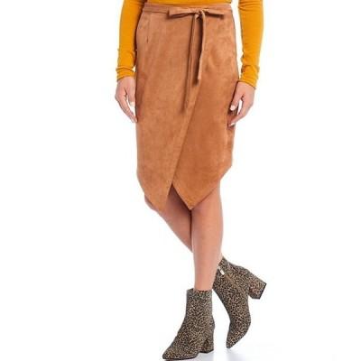 シュガーリップス レディース スカート ボトムス Faux Suede Wrap Style Asymmetric Skirt