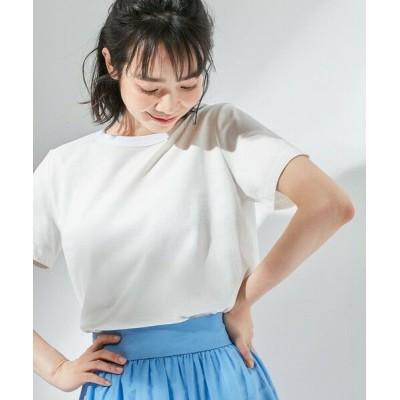 組曲/クミキョク 【東原亜希さん着用・KMKK】ハイツイストコットン天竺Tシャツ(KK36) ホワイト系 3