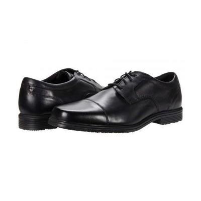 Rockport ロックポート メンズ 男性用 シューズ 靴 オックスフォード 紳士靴 通勤靴 Robinsyn Waterproof Cap Toe Oxford - Black