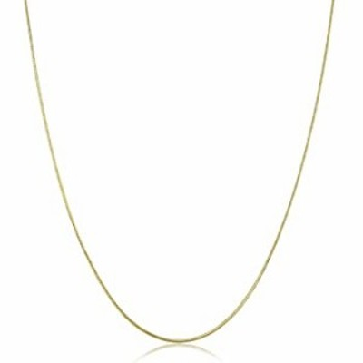 KoolJewelry 14k Yellow Gold Round Snake Chain Necklace for Women (0.8 mm, 20 inch)
