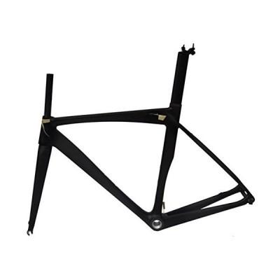 (新品) Full Carbon Matt 700c Road Bike Cycling BB30 Frame Fork Seatpost Clamp 50cm