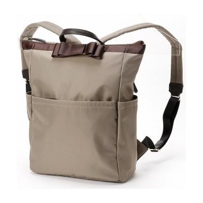 【ヴェリココ(バッグ)】 ★選べる2サイズ リボン付きリュック レディース トープ F velikoko bag