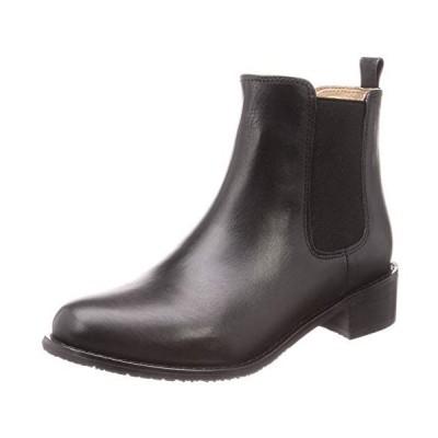 [ヨースケ] サイドゴアレザーショートブーツ 5010057 レディース (ブラック 22.5 cm)