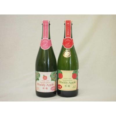 国産林檎スパークリングにごりワイン2本セット(辛口、やや甘口)(青森県 長野県) 750ml×2本