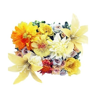 Lumiphire 造花 アレンジメント 額縁付 花の芝生 壁掛け 卓上置き インテリア おしゃれ 人気 誕生日 母の日 プレゼント 女性 感謝 記念