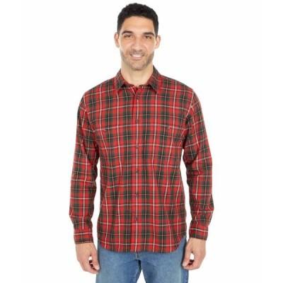 フィルソン シャツ トップス メンズ Wildwood Shirt Red/Black/Flame Plaid