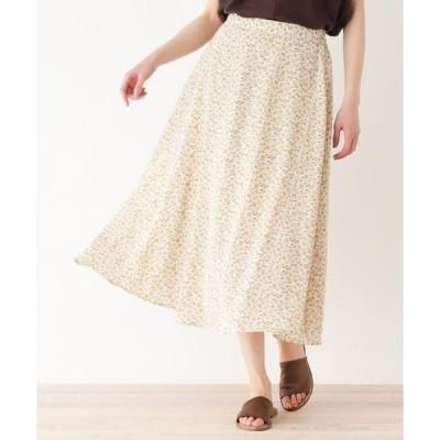 HusHusH / ハッシュアッシュ 【手洗いOK】小花柄フレアミディスカート