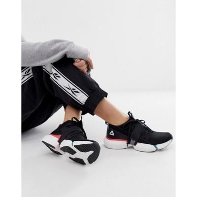 リーボック レディース スニーカー シューズ Reebok Training Split Flex Sneakers In Black With Color Pops