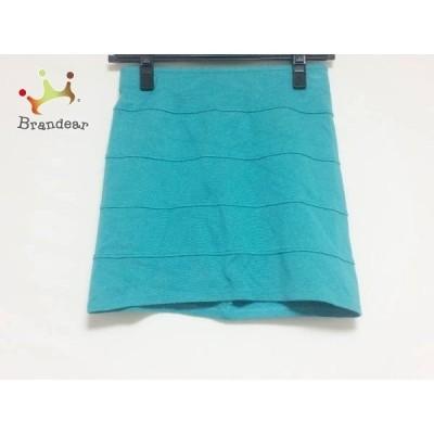 ルシェルブルー LE CIEL BLEU ミニスカート サイズ38 M レディース グリーン ゴムウエスト       スペシャル特価 20200426