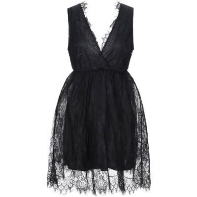 VANESSA SCOTT ミニワンピース&ドレス ブラック S ポリウレタン 60% / レーヨン 40% ミニワンピース&ドレス