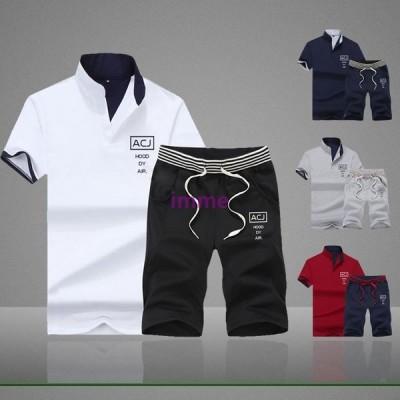 セットアップ メンズ 上下セット ハーフパンツ Tシャツ 半袖 ショート トップス ボトムス カットソー メンズファッション メンズセットアップ上下