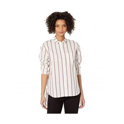 Madewell レディース 女性用 ファッション ボタンシャツ Oversized Ex-Boyfriend Shirt in Odessa Stripe - Angeles Stripe Light