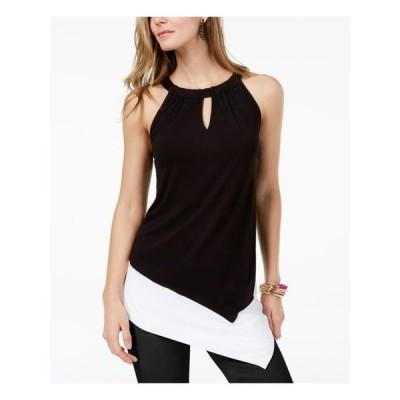 レディース 衣類 トップス INC Womens Black Asymmetrical Sleeveless Keyhole Top Size: XL ブラウス&シャツ
