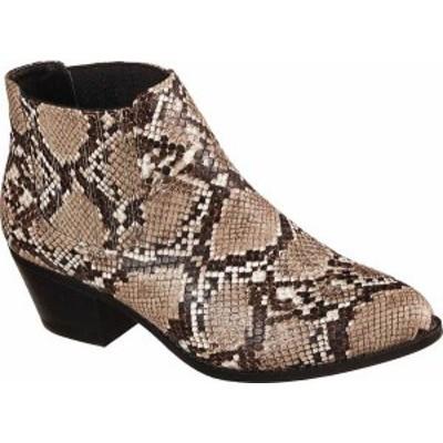 スケッチャーズ レディース ブーツ・レインブーツ シューズ Women's Skechers Christa Ankle Boot Snake Print