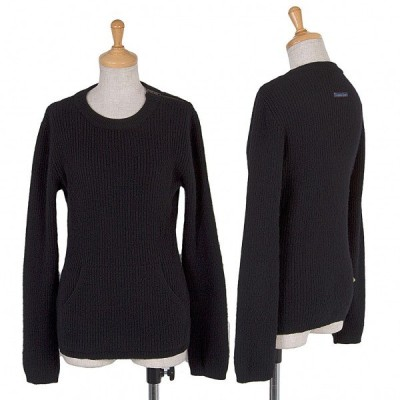 【SALE】ゴルチエジーンズGAULTIER JEAN'S ウールショルダージップニットセーター 黒S 【レディース】