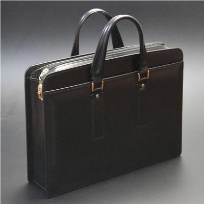 ビジネスバッグ メンズ 本革 日本製 自立 ブリーフケース A4 ブラック