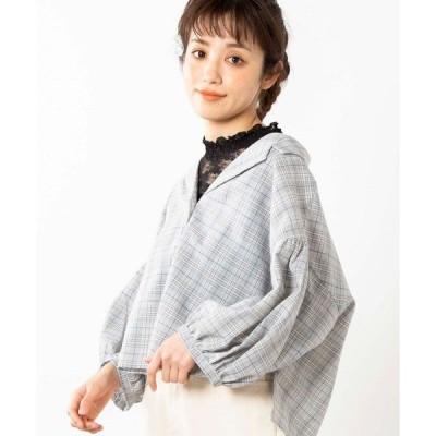 シャツ ブラウス WEGO/ボリュームオープンカラーシャツ