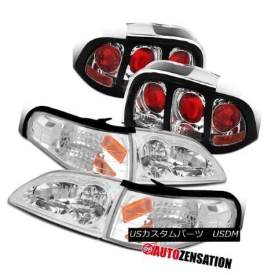 ヘッドライト 94-98 Clear Ford Mustangヘッドライト+ Cor   nerランプ+テールライトリアブレー