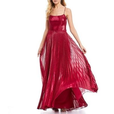 ビーダーリン レディース ワンピース トップス Lace-Up-Back Pleated Skirt Long Dress
