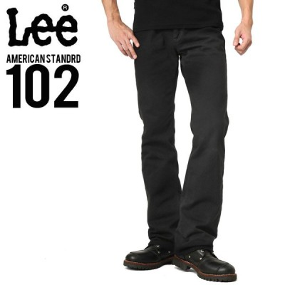 Lee リー AMERICAN STANDRD 102ブーツカットツイルパンツ ブラック(75) メンズ ズボン ボトムス 無地 ブランド【T】