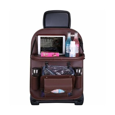 JL 車用シートバックポケット 車用収納ポケット 車用ゴミ箱機能付き レザー素材パレット、防汚 車の収納ボッ